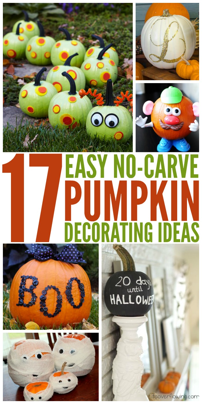 17 Creative No-Carve Pumpkin Decorating Ideas