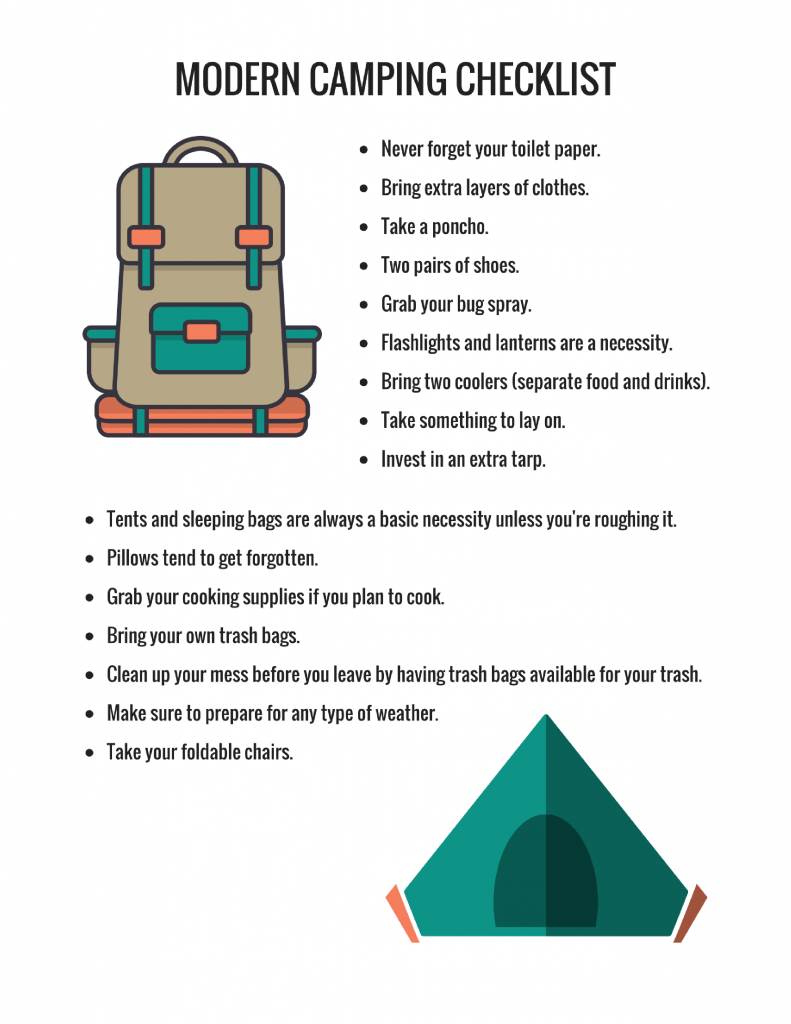 Grab your printable version of this Modern Camping Checklist!