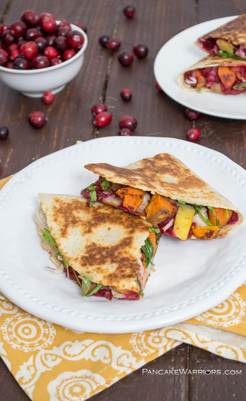 Thanksgiving Turkey Quesadilla