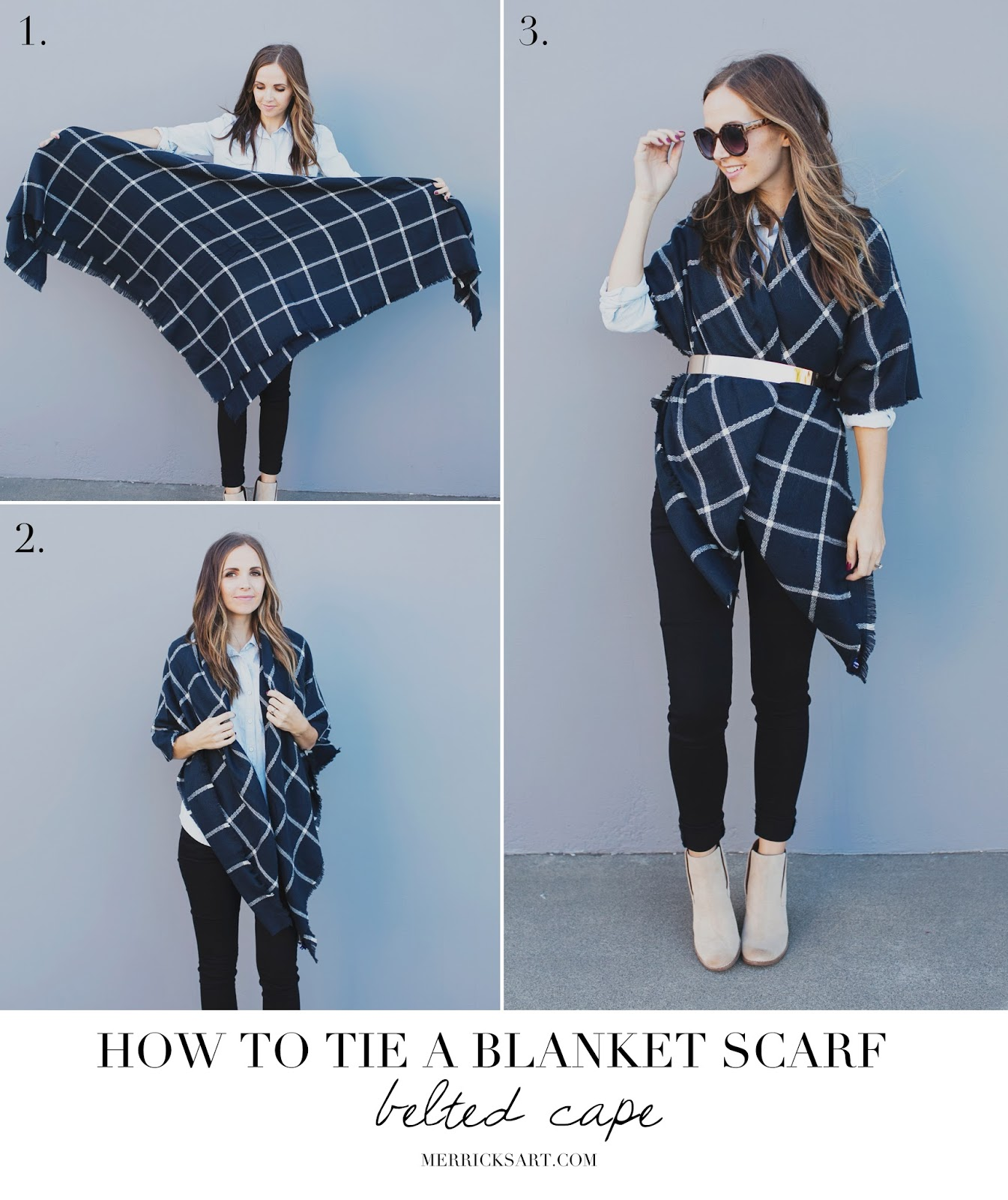 belted cape blanket scarf