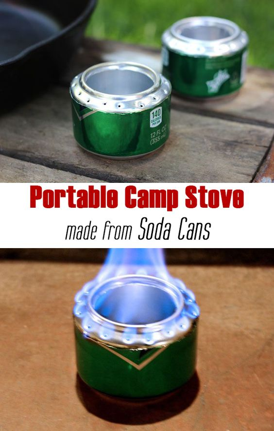 camp stove from soda cans