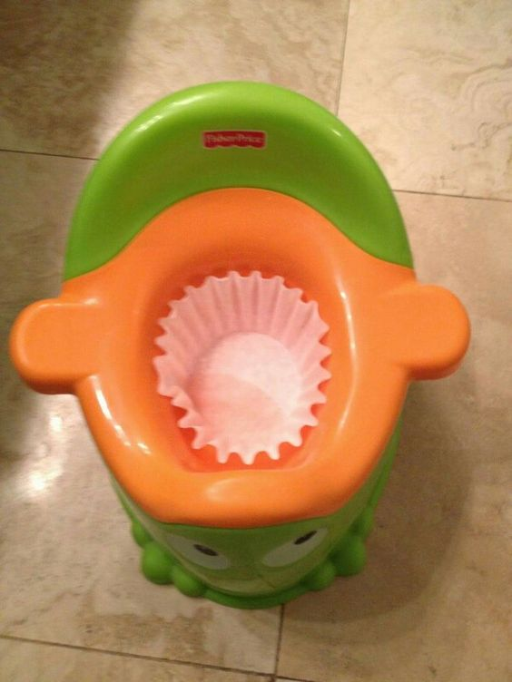coffee filter in the potty