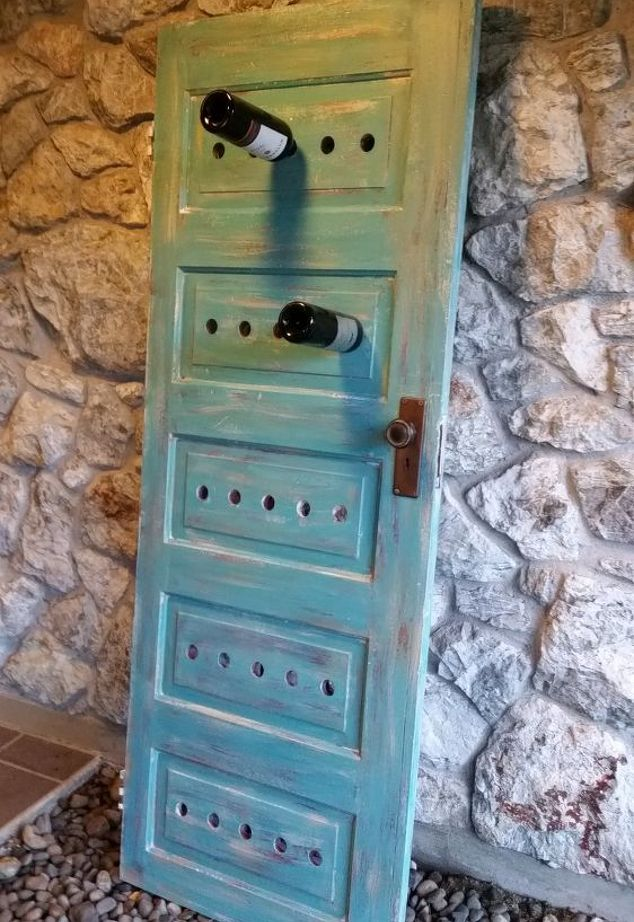 door wine rack
