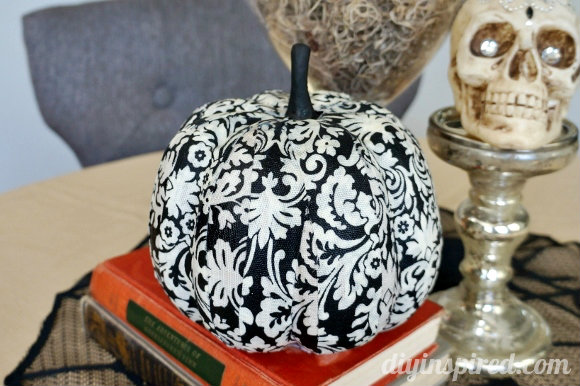 fabric covered pumpkin