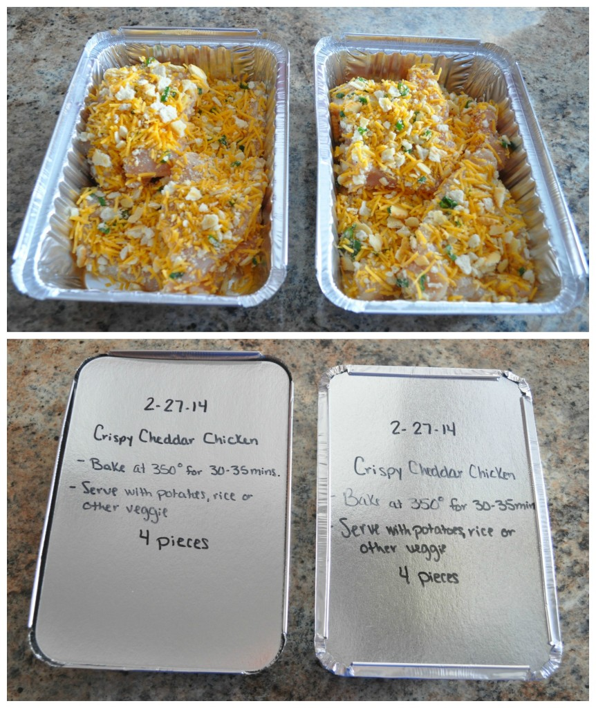 freezer dinner crispy cheddar chicken