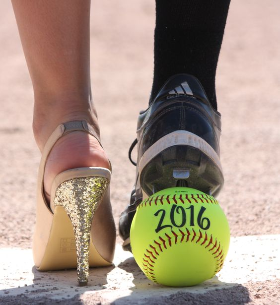 high heels and cleats