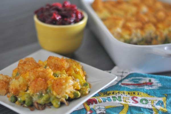 leftover turkey tater tot hotdish