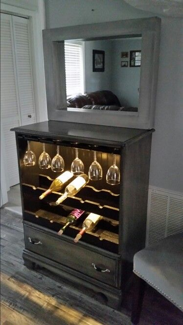 lighted wine cabinet