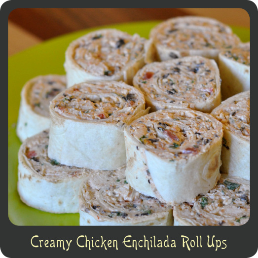 party appetizers creamy chicken enchilada rollups