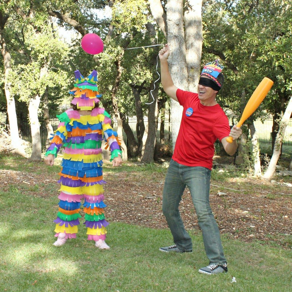 piñata and birthday kid couples costume