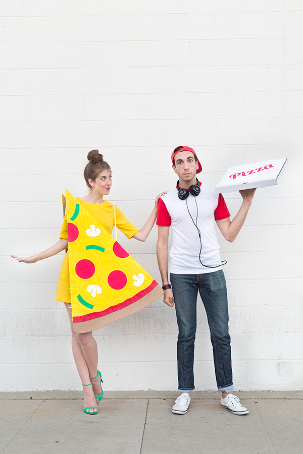 pizza and delivery boy couples costume