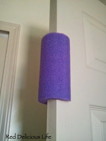 pool noodle door stopper
