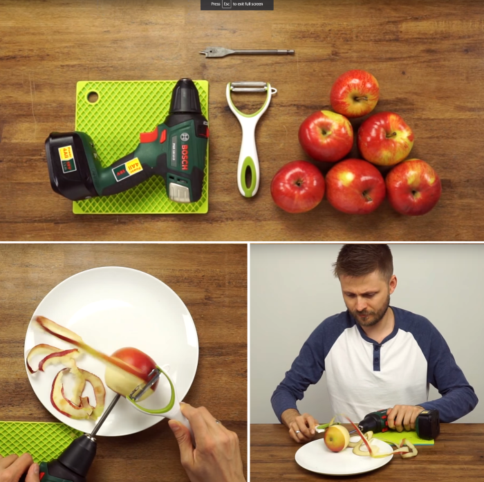 how to peel apples the fastest way possible