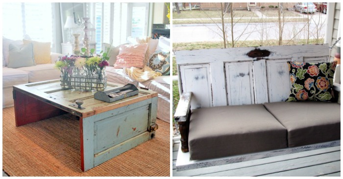 17 Crafty Ways To Reuse Old Doors