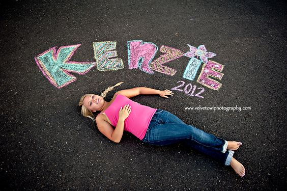 sidewalk chalk picture idea