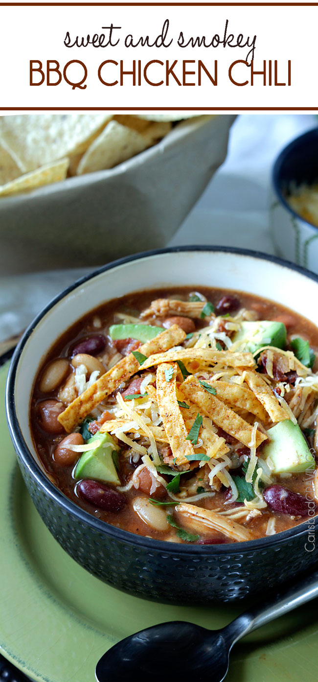 smoky bbq chicken chili