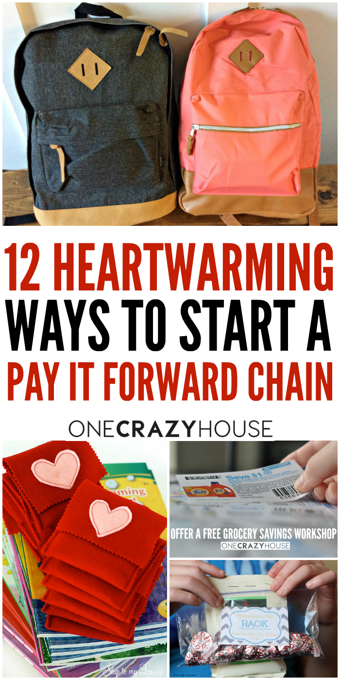 Have you ever searched for ways to start a pay it forward chain? Here are 12 heartwarming and inspirational ideas just for you.