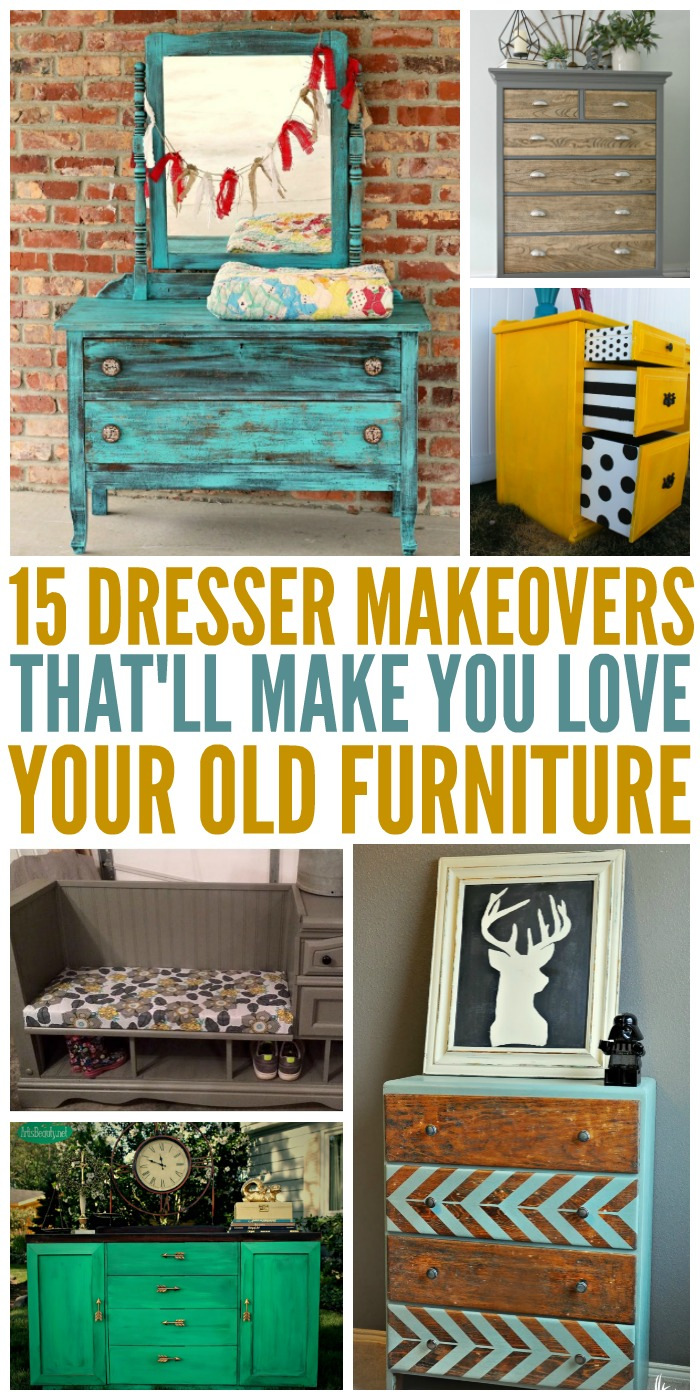 Have you fallen out of love with the dresser in your bedroom? Or have a dusty dresser taking up space? It's time to try one of these dresser makeovers!