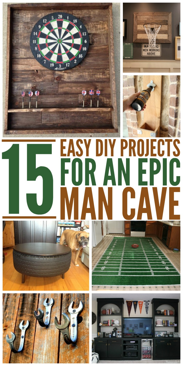 Get ready for planning out that special place for him with these epic man cave DIY ideas. #mancaveDIYideas #home #manroom #onecrazyhouse