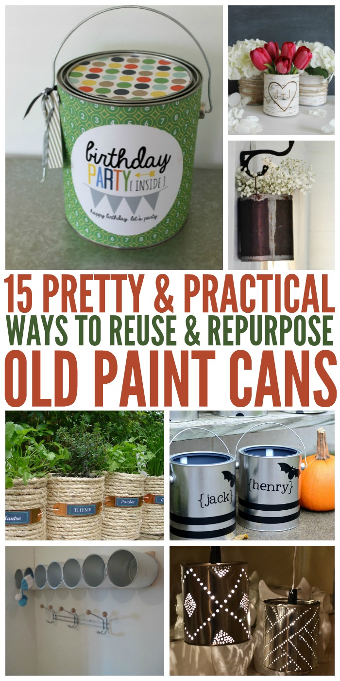 We've found 15 pretty useful ways to reuse paint cans for organizing and beautifying your home.
