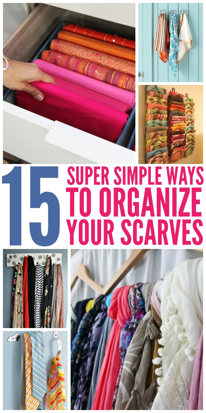 Ordinaire These Tips On Ways To Organize Scarves Will Help You Keep Them Neat And  Tidy Whether