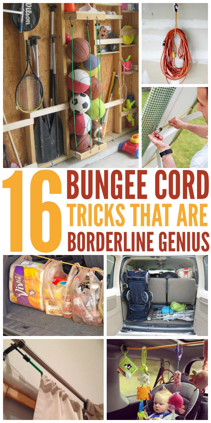 Transform your home! We've found 16 bungee cord uses, tips and DIY tricks that are pure genius.