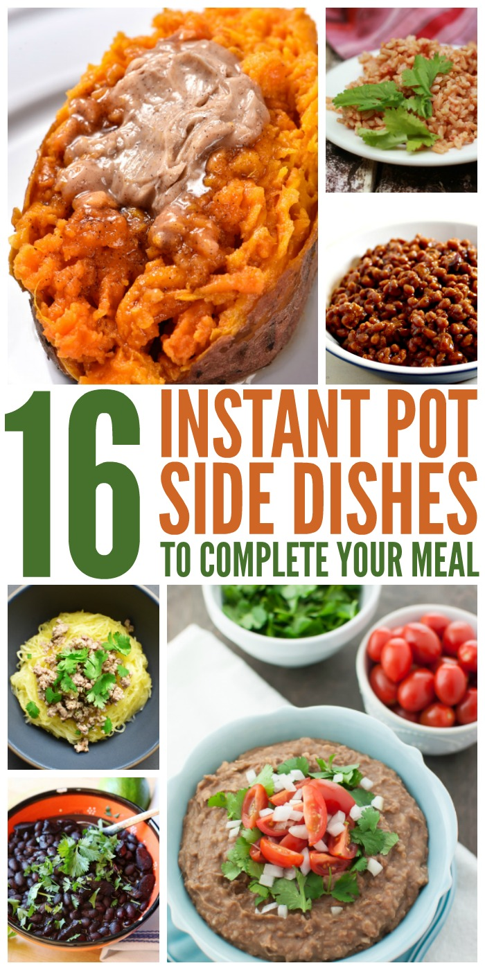 These Instant Pot side dishes are ready in minutes, so you can have dinner on the table in a flash.
