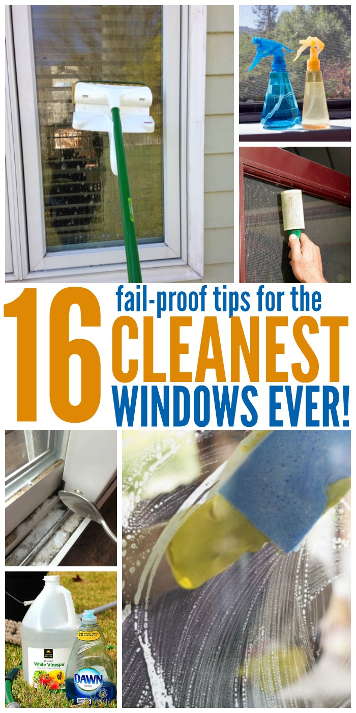 With these window cleaning tips, you can get absolutely spotless windows (no, really!) with less effort than you'd think. #windowscleaningtips #onecrazyhouse #windowtips #cleaninghacks