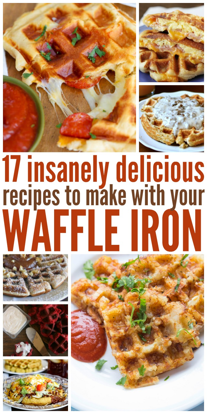 Make portable pizzas, awesome burgers or a yummy dessert to feed your family with these insanely good waffle iron recipes. Yum!
