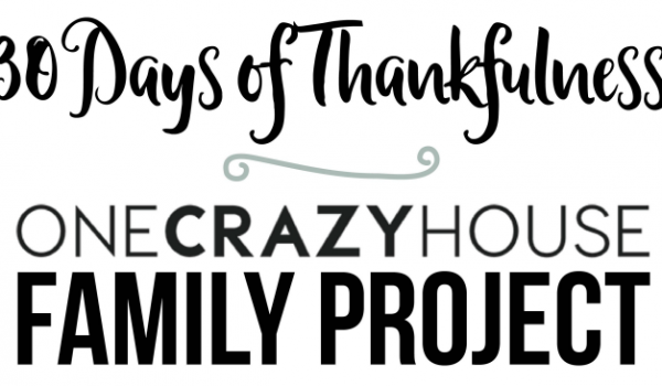 30 Days of Thankfulness a Family Project