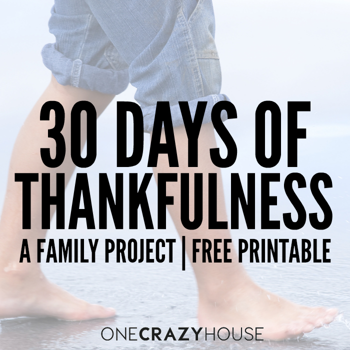 30 Days Of Thankfulness A Family Project: 30 Days Thankfulness Worksheet At Alzheimers-prions.com