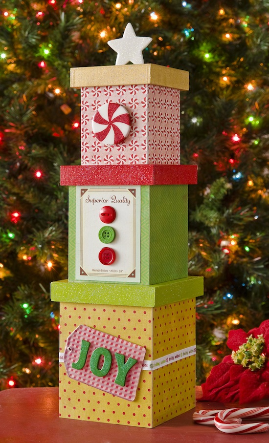 MINI DIY CHRISTMAS TREE DECOR FROM BOXES | Mod Podge Rocks