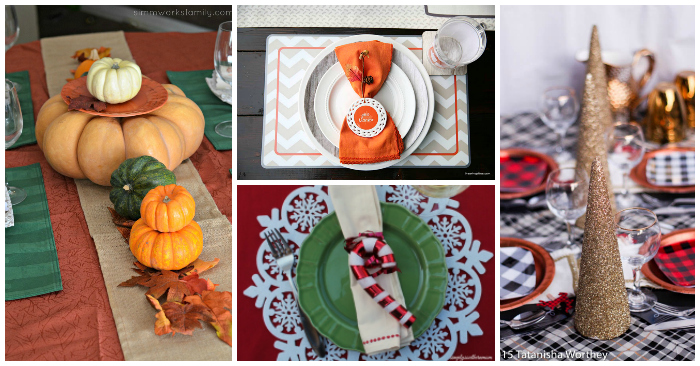 Simple Holiday Tablescapes to Make Holiday Dinner Easier