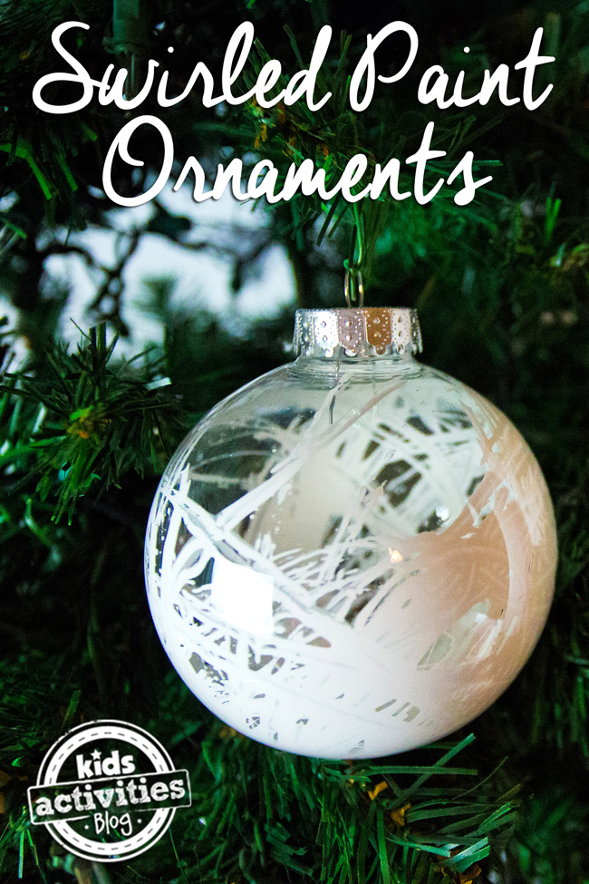 Swirled Paint Ornaments | Kids Activity Blog