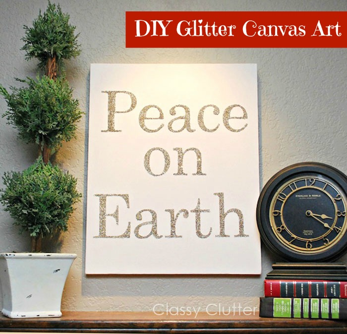 DIY Glitter Canvas Art | I Heart Naptime