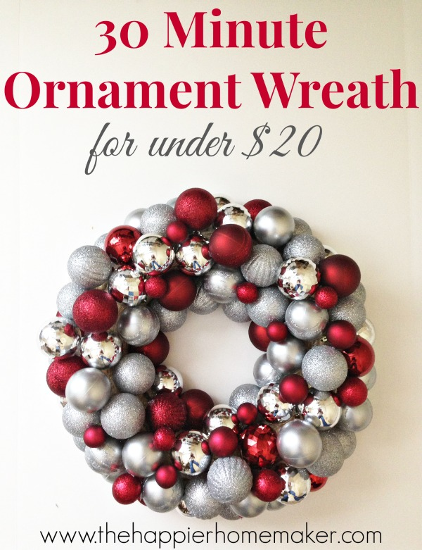 This DIY ornament wreath is the perfect homemade Christmas decoration.