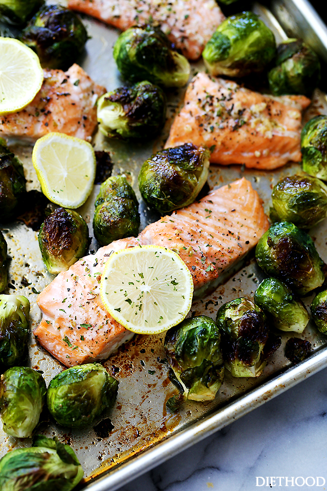 garlic-roasted-salmon-with-brussels-sprouts