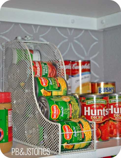 magazine rack for canned goods