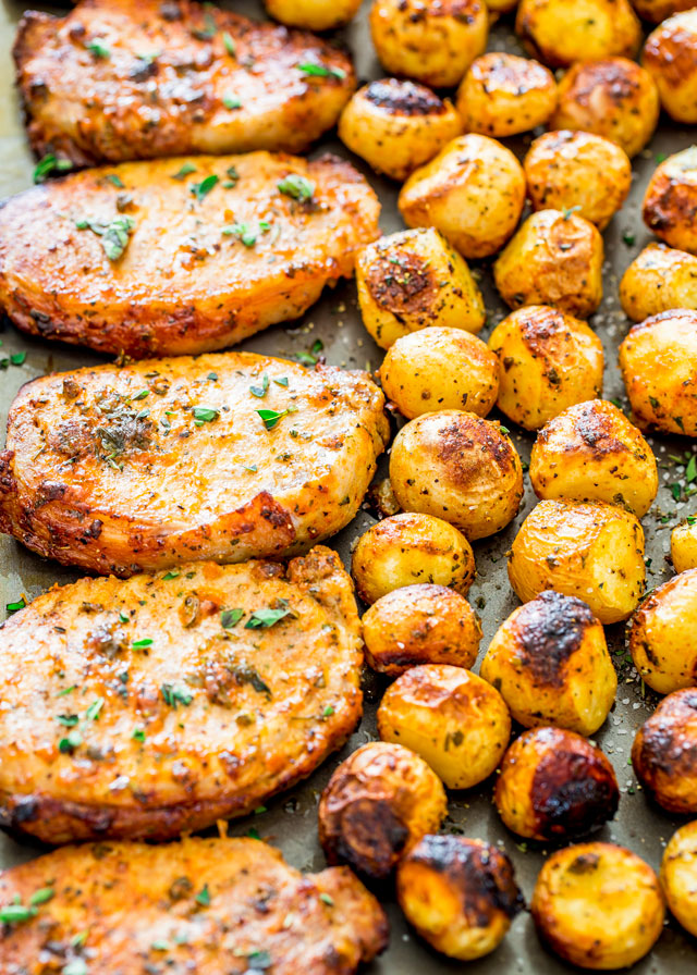 ranch-pork-chops-and-potatoes-sheet-pan-dinner