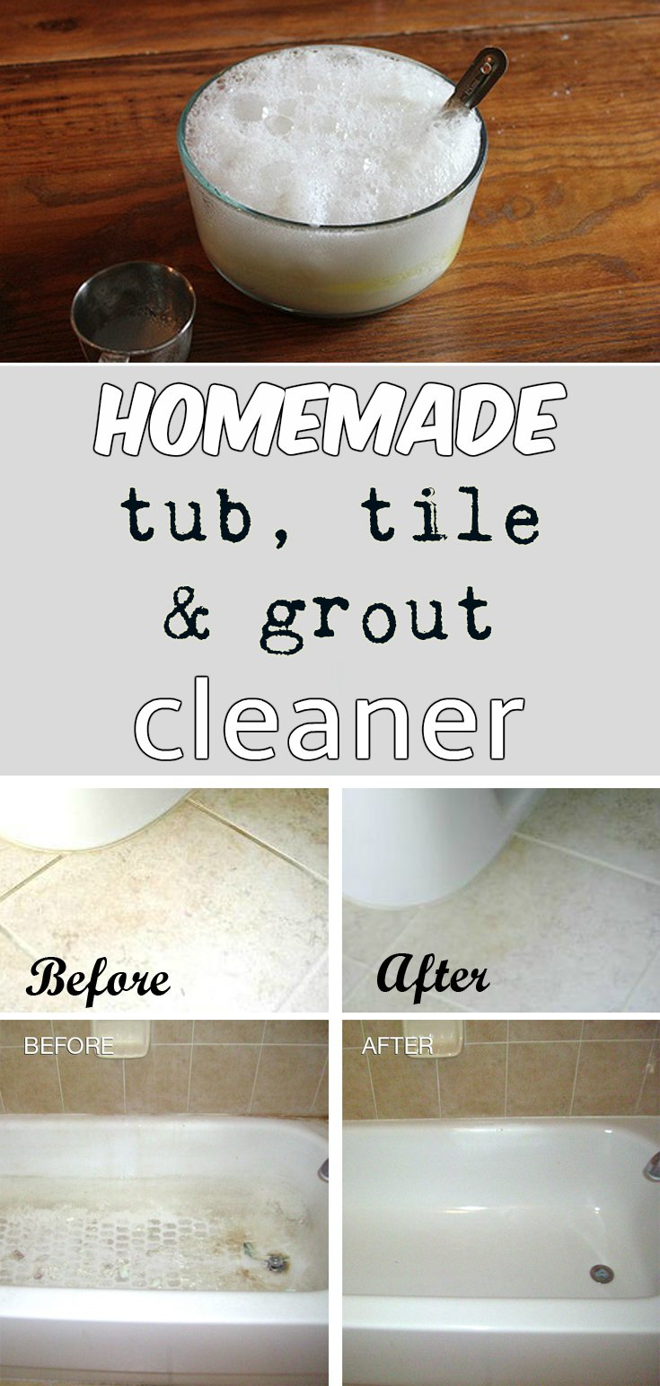 tub cleaner - Homemade Bathroom Cleaner