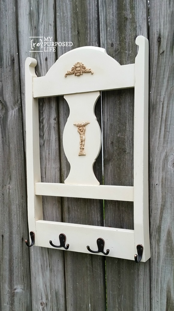 Repurposed Chair Back Coat Rack | Today's Creative Life