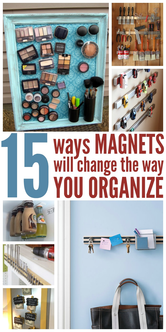 We've found 15 clever ways to use magnets to organize clutter hot spots in your home.