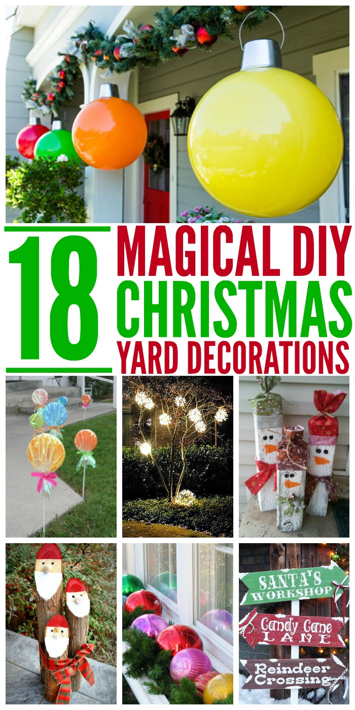 18 magical christmas yard decorations for Simple outside christmas lights ideas