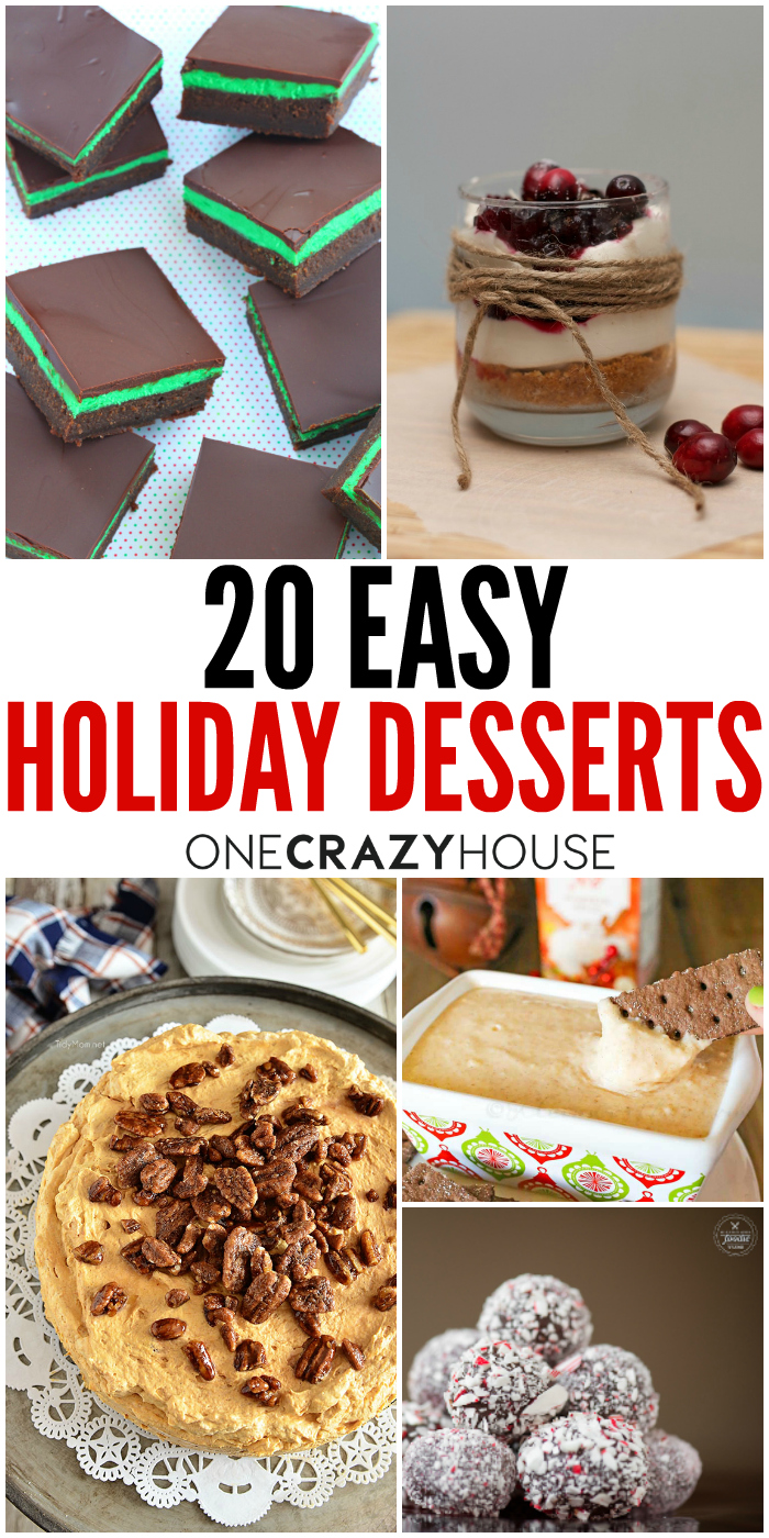20 easy holiday desserts that won 39 t disappoint. Black Bedroom Furniture Sets. Home Design Ideas