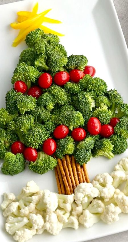 christmas-tree-veggie-platter