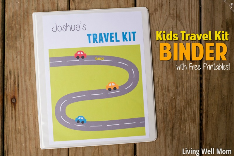 Kids Travel Kit Binder