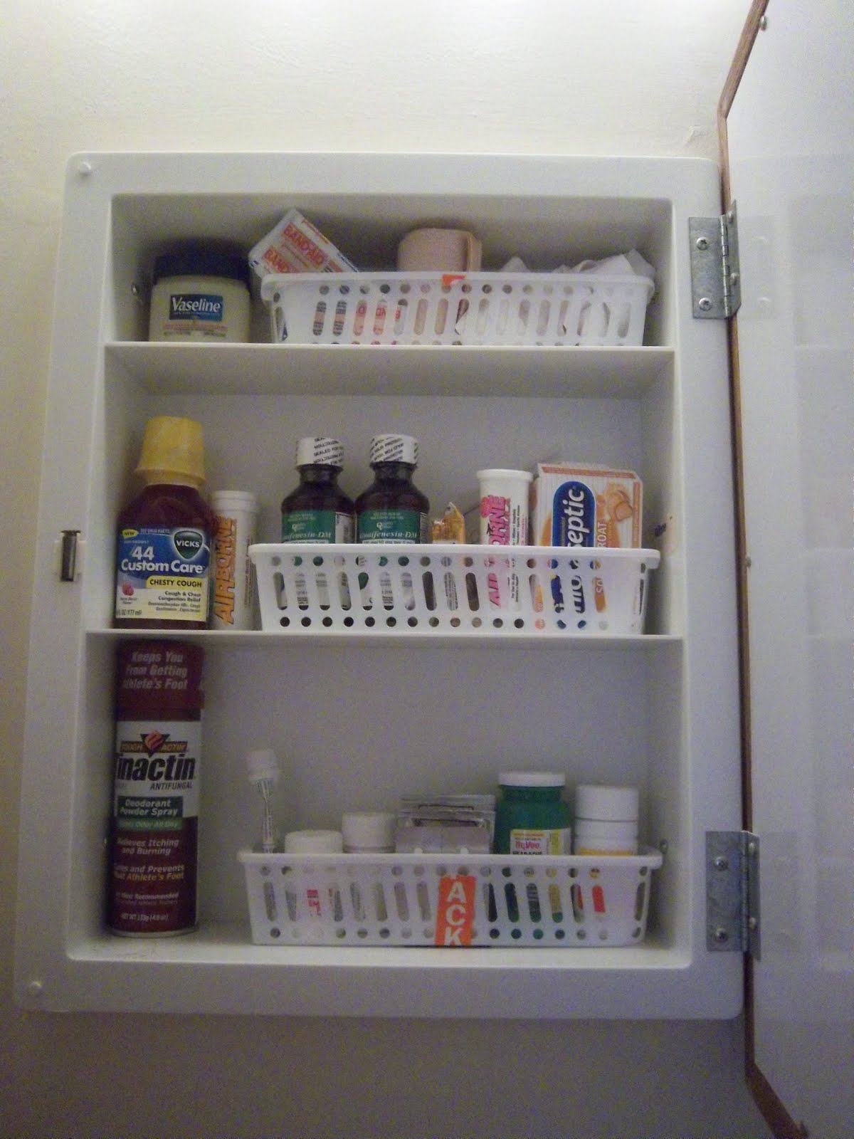 Beau Baskets In The Medicine Cabinet