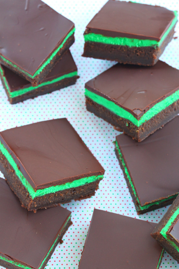 Mint Chocolate Squares | The Recipe Girl
