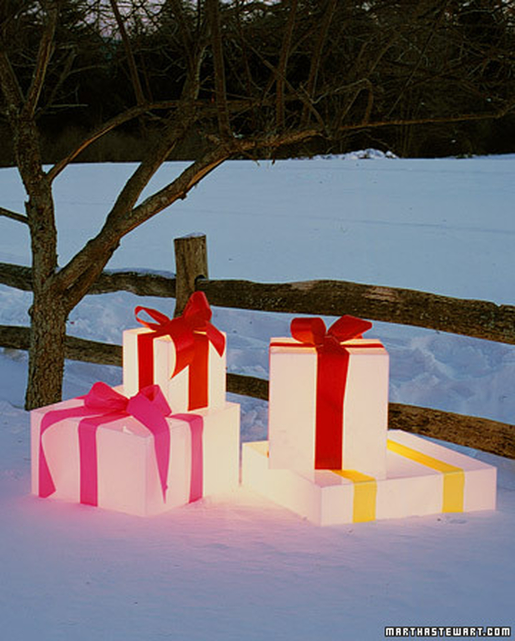 glowing gift boxes