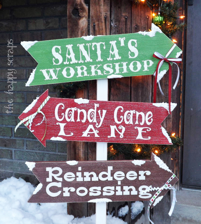 outdoor christmas signs